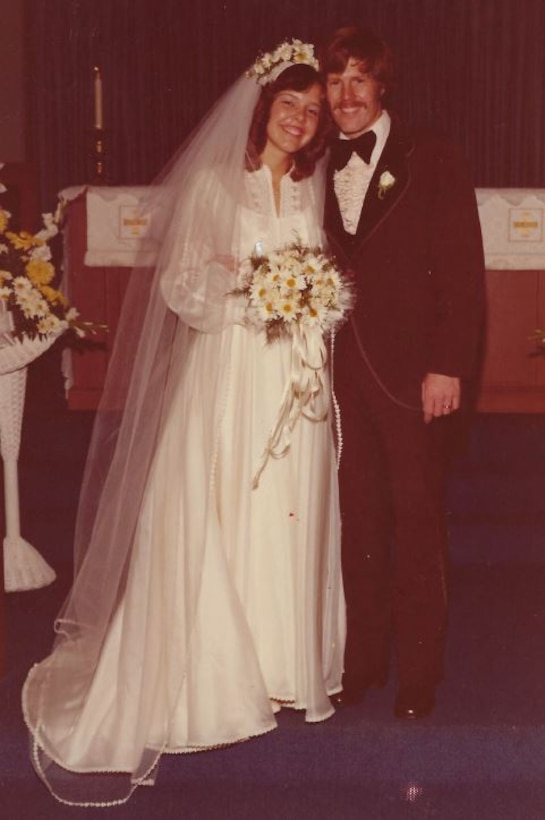 Lt. Col. Kenneth Huston and Elisabeth on their wedding day July 10, 1976. (Courtesy Photo)