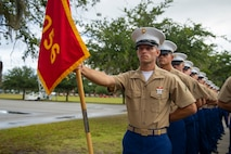"""A native of Orlando, Florida, graduated from Marine Corps recruit training as a platoon honor graduate of Platoon 2056, Company F, 2nd Recruit Training Battalion, Aug. 16, 2019. Pfc. Joshua Johnson earned this distinction over 13 weeks of training by outperforming 50 other recruits during a series of training events designed to test recruits' basic Marine Corps skills. These training events covered customs and courtesies, drill and ceremonies, marksmanship, physical fitness, military history, and a variety of other subjects. """"The best part of Marine Corps basic training was adding to my family. No matter what, I know that there are Marines and future Marines that will come to understand one another through a common pain that was shared,"""" said Johnson. After enjoying the 10 days of leave allotted to graduates of recruit training, Johnson will continue to build foundational Marine Corps skills at the School of Infantry, Camp Geiger, North Carolina."""