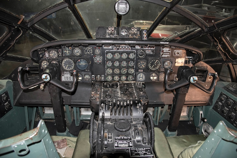 DAYTON, Ohio - Convair B-36J Peacemaker pilot station at the National Museum of the U.S. Air Force. (U.S. Air Force photo by Ken LaRock)