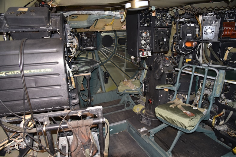 DAYTON, Ohio - Convair B-36J Peacemaker instrument components in the radar/navigator station at the National Museum of the U.S. Air Force. (U.S. Air Force photo by Ken LaRock)