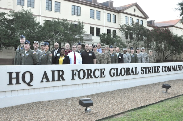 Newly-selected participants in Air Force Global Strike Command professional development programs recently came to Barksdale Air Force Base, La., for a three-day orientation, where they met with senior leadership and functional managers, and received general information about their programs. They also spent two days in a Leadership Enhancement Course.
