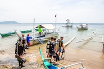 U.S. Military Divers Assist Philippine Partners in Installing Artificial Reefs