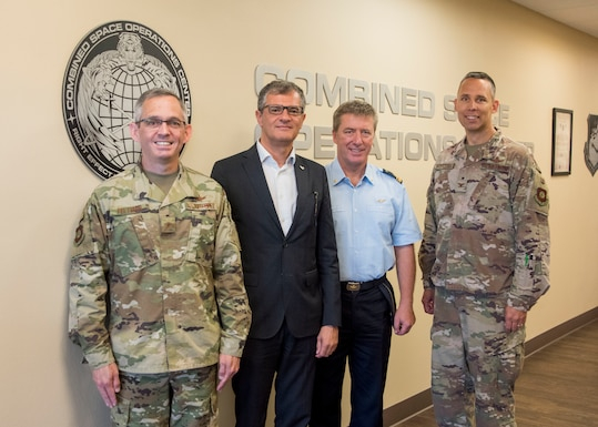 Giorgio Saccoccia, president of the Italian Space Agency, and Brig. Gen. Roberto Vittori, Space Attaché Italian Embassy to the United States, visited the Combined Space Operations Center Aug. 15, 2019, at Vandenberg Air Force Base, Calif.