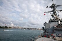 USS Porter Departs Black Sea
