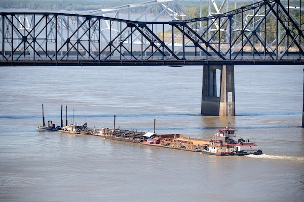 Dredging Starts on the Ouachita-Black River Columbia Lock Dam Opens to