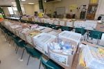 187th Medical Battalion Soldiers delivered donated supplies at Briscoe Elementary School Aug. 8.