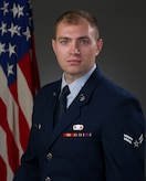 Official Photo of A1C Jacob Moore, tubist of The United States Air Force Band of the Golden West, Travis AFB, CA.