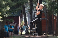 """Children of Idaho Army and Air National Guard members not only survived the """"Survivor""""-themed summer camp, they thrived. The event-filled camp was held Aug 12-16, 2019, and was designed to build resiliency and strength in youth of military families."""