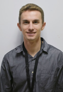Christoph Neisess, an Air Force Premier College Intern Program participant at the AEDC Hypervelolcity Wind Tunnel 9. White Oak Maryland. (U.S. Air Force Photo)