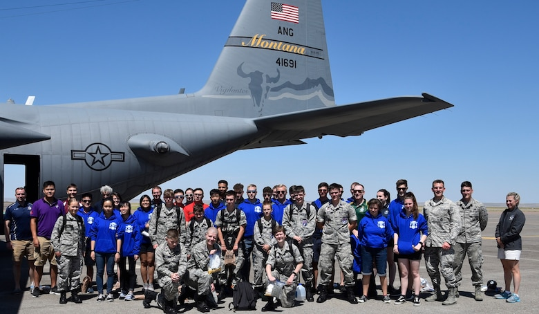 A group from the International Air Cadet Exchange program spent the day with the 120th Airlift Wing July 29, 2019.