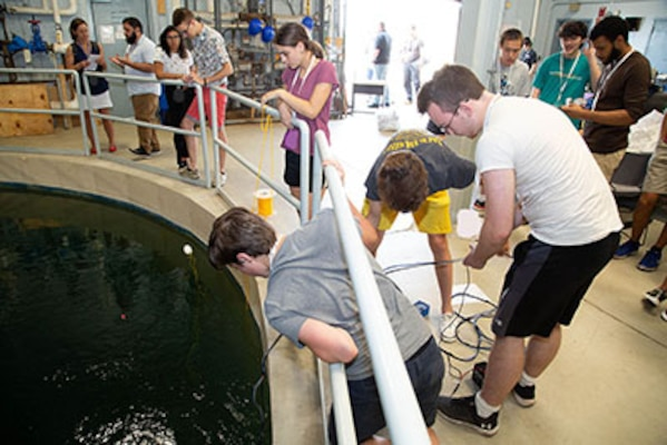 High school students show their skills in undersea vehicle competition at NUWC Division Newport