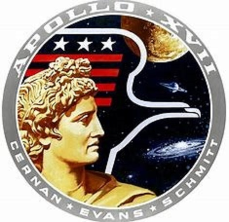 Apollo 17, the final Apollo mission in December 1972, provided now retired Air Force Office of Special Investigations Special Agents Bill Arnold and Bob Cote a most memorable Protective Service Operation when they supported family members of the crew. (NASA graphic)