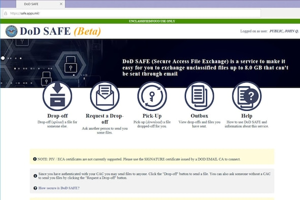 The Defense Information Systems Agency has taken over an online resource that allows Defense Department personnel to swap files too large to be sent by email. Now in the wheelhouse of DISA, the file transfer capability has been rebranded DoD SAFE, or secure access file exchange. The DoD SAFE capability is part of DISA's Defense Collaboration Services suite of applications.