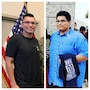 Before and after picture of Las Vegas teen that lost over 100 pounds to join the Army.