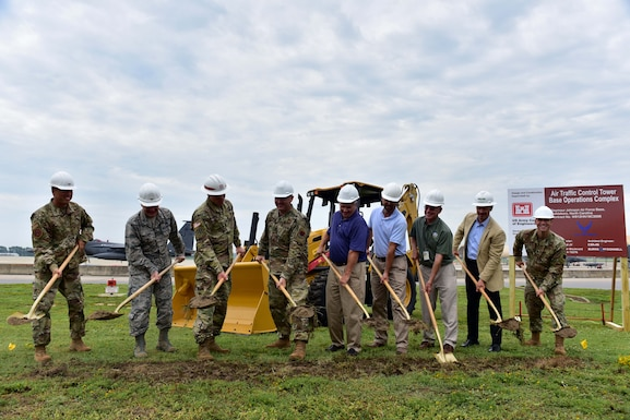 The 4th Fighter Wing held a groundbreaking ceremony for the construction of the new air traffic control tower and base operations complex, Aug. 15, 2019, at Seymour Johnson Air Force Base, North Carolina.