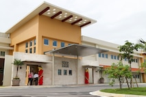 The Inns of the Corps lodging facility opened on Camp Hansen, Okinawa, Japan Aug. 19, 2019.  Construction on the Inns of the Corps facility began on November 25, 2017 and finished on May 1, 2019.