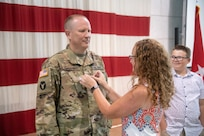 West Virginia Army National Guard (WVARNG) State Command Chief, Chief Warrant Officer 4 Daniel Hutchins was promoted to Warrant Officer 5 Aug. 19, 2019, at the Joint Force Headquarters in Charleston, West Virginia.