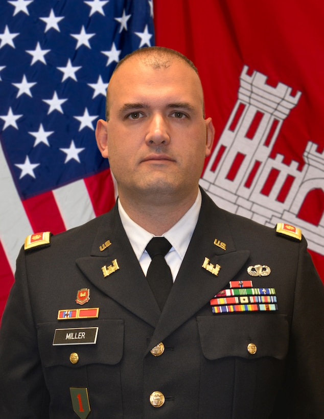 Major John Miller assumed the role of Deputy Commander of the St. Louis District, U.S. Army Corps of Engineers on August 19, 2019. As the Deputy Commander, he supports the District Commander and a civilian and military workforce of nearly 750 personnel in executing the diverse mission of providing civil works and interagency support along the Mississippi River in Missouri and Illinois. Prior to the St. Louis District, Major Miller served as the Trans-Atlantic Afghanistan District Kabul Base Cluster OIC from September 2018 to June 2019.