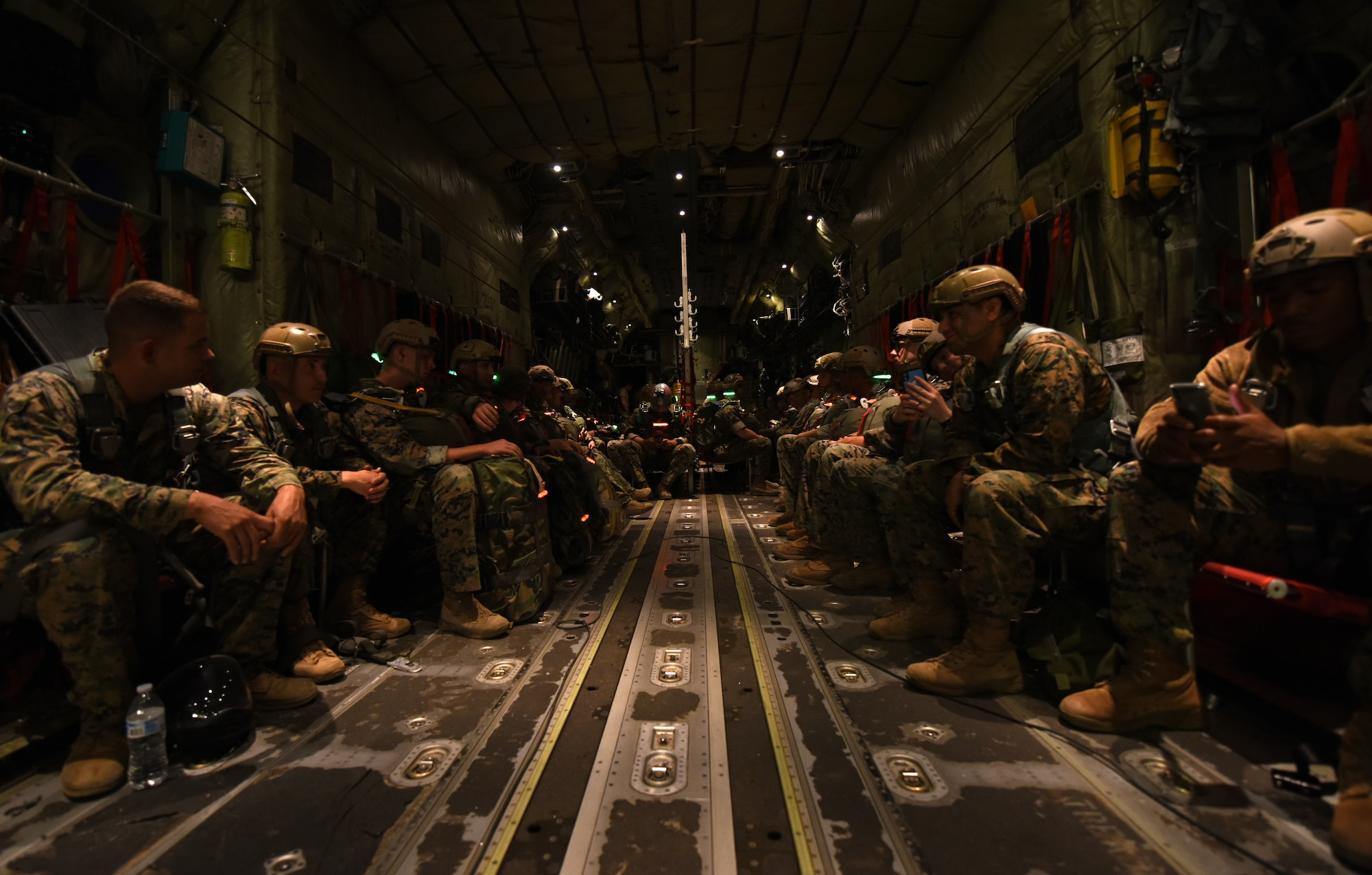 39th Airlift Squadron hits west coast skies, drops 200 Marines