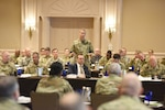 U.S. Army Lt. Gen. Daniel Hokanson, director, Army National Guard, addresses National Guard inspectors generals during the 2019 National Guard Bureau Inspectors General conference, July 30, 2019, Arlington, Virginia.