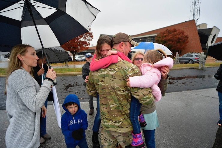 The Delaware National Guard and local community welcomed home nearly 150 Citizen Airmen and Soldiers during multiple homecoming events, Nov. 5-10, 2018.