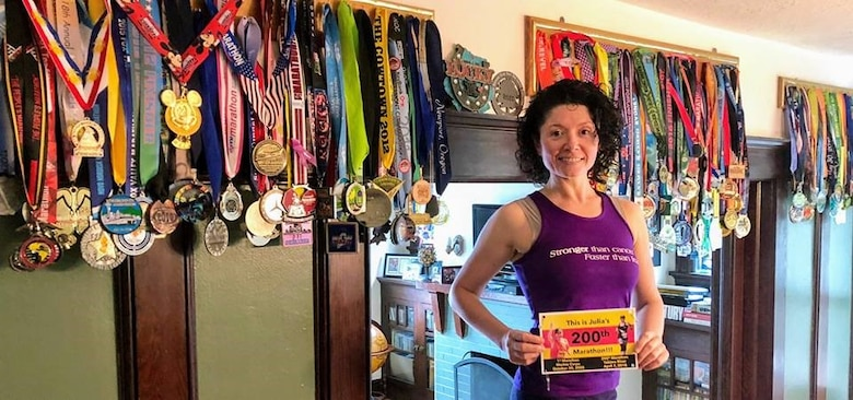 Cancer survivor and pacer Julia Khvasechko will run her 229th marathon at this year's Air Force Marathon on Sept. 21. Khvasecko has ran a marathon in all 50 states twice and is now working on round three making the Air Force marathon her third marathon ran in the state of Ohio. (Courtesy photo)