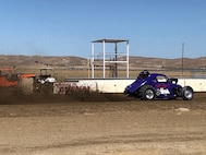 Ron Hess, owner/driver, launches the Mad Mouse during a recent sand drag race held in northern California.