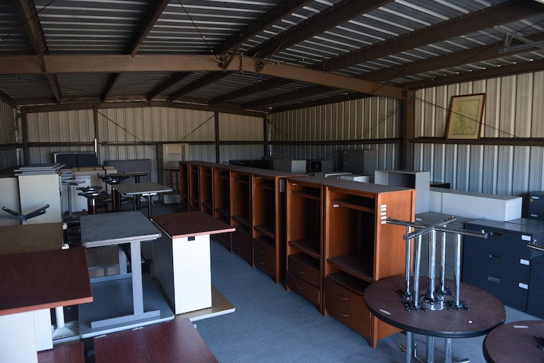 The Vandenberg Recycling Center manages a re-use program for used government furniture and office goods. Utilizing the re-use inventory helps the base save money through disposal and replacement cost avoidance of these items. (U.S. Air Force photo by Michael Peterson)