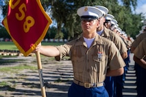 """PARRIS ISLAND, SC --  A native of Plaquemine, Louisiana, graduated from Marine Corps recruit training as a platoon honor graduate of Platoon 3058, Company K, 3rd Recruit Training Battalion, Aug. 23, 2019. Pfc. Skyler Dozier earned this distinction over 13 weeks of training by outperforming 50 other recruits during a series of training events designed to test recruits' basic Marine Corps skills. These training events covered customs and courtesies, drill and ceremonies, marksmanship, physical fitness, military history, and a variety of other subjects. """"I liked creating a bond with the other recruits and forming friendships,"""" said Dozier. After enjoying the 10 days of leave allotted to graduates of recruit training, Dozier will continue to build foundational Marine Corps skills at the School of Infantry, Camp Geiger, North Carolina."""