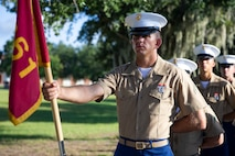 """A native of Moore, South Carolina, graduated from Marine Corps recruit training as the company honor graduate of Company K, 3rd Recruit Training Battalion, Aug. 23, 2019.  Pfc. Robert Herzberg earned this distinction over 13 weeks of training by outperforming 294 other recruits during a series of training events designed to test recruits' basic Marine Corps skills. These training events covered customs and courtesies, drill and ceremonies, marksmanship, physical fitness, military history, and a variety of other subjects. """"The best part of recruit training is having the opportunity to start over. Recruit training has helped me set clear, realistic goals, learned to respect different sorts of people, and the drive to accomplish everything I set my mind to,"""" said Herzberg. After enjoying the 10 days of leave allotted to graduates of recruit training, Herzberg will continue to build foundational Marine Corps skills at the School of Infantry, Camp Geiger, North Carolina."""