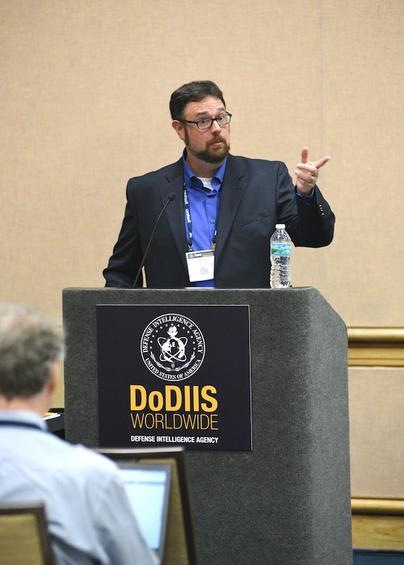 Brian Drake, the Defense Intelligence Agency's science and technology director of artificial intelligence, gives an update on the SABLE SPEAR program, a mass data analytics tool that uses open sources and machine learning to understand the synthetic opioid supply chain.