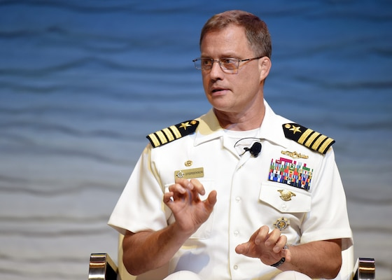 Capt. Henry A. Stephenson, U.S. Transportation Command director of intelligence, discusses the challenges of intelligence support to cyber defense