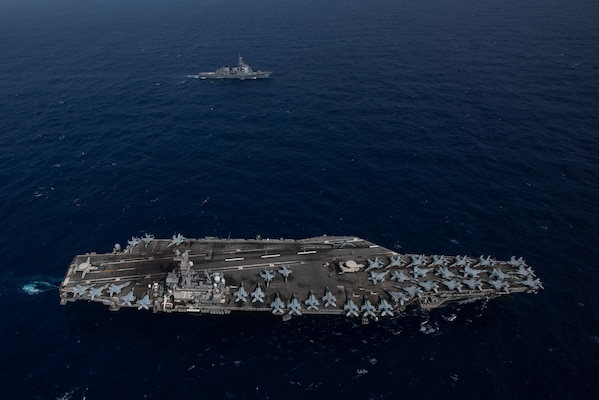 Ronald Reagan Carrier Strike Group, JMSDF Conduct Combined Operations