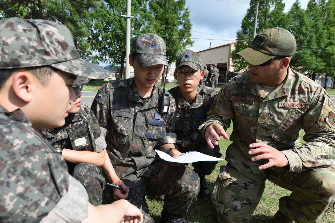 Recently U.S. Air Force Security Forces members joined Republic of Korea military police during a subject matter expert exchange at Gwangju Air Base, Republic of Korea, during Pacific Defender Outreach 19-1.