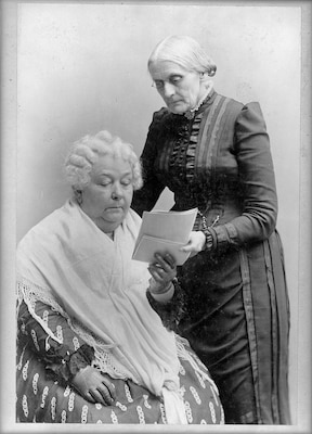 Elizabeth Cady Stanton (seated) and Susan B. Anthony (standing) led the women's suffrage movement for more than 50 years.