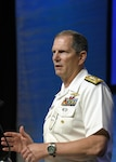 Director of Naval Intelligence and Deputy Chief of Naval Operations for Information Warfare Vice Adm. Matthew J. Kohler explains dynamic maritime operations and the role of information warfare in the Navy's tactical grid