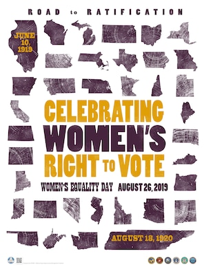 The observance recognizing Women's Equality Day was established by Joint Resolution of Congress in 1971. Women's Equality Day is observed on the 26th day of August and commemorates the 1920 passage of the 19th Amendment to the Constitution, which gave women the right to vote. The observance has grown to include focusing attention on women's continued efforts toward gaining full equality. (Source: www.deomi.org)