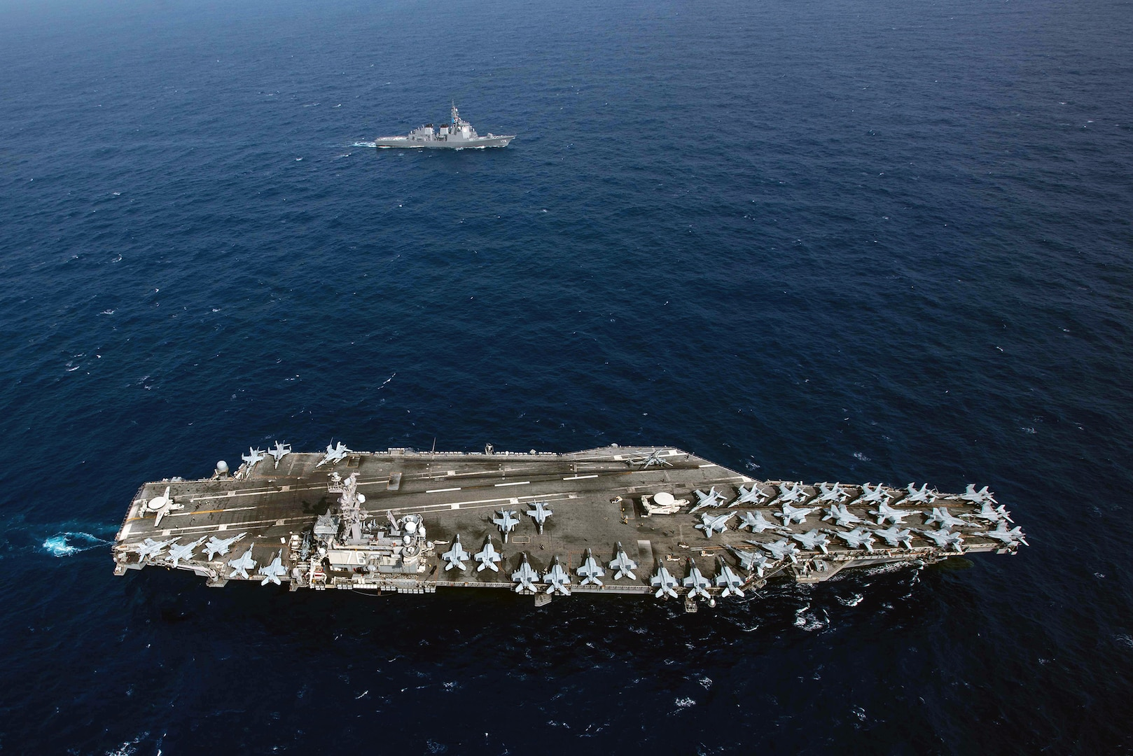 Ronald Reagan Carrier Strike Group, JMSDF Sail together in Western Pacific