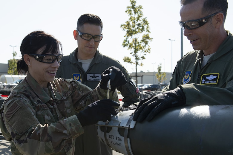 Airman from various career fields competed for best time on building an inert bomb.
