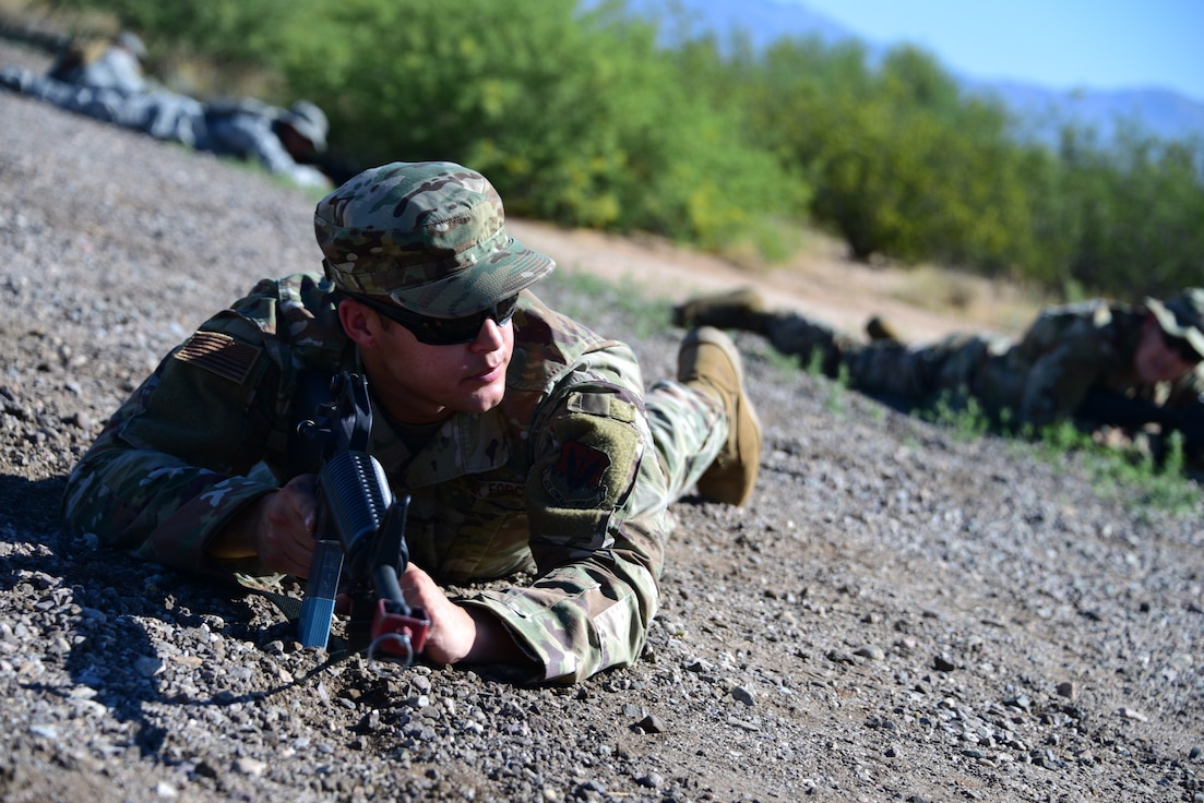 A story about 355th Wing Airmen during the first Field Expeditionary Combat Skills Training.