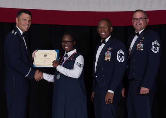 Congratulations to Senior Airman Adrienne Thompson, who completed Airman Leadership School Aug. 22, 2019, at McConnell Air Force Base, Kan.