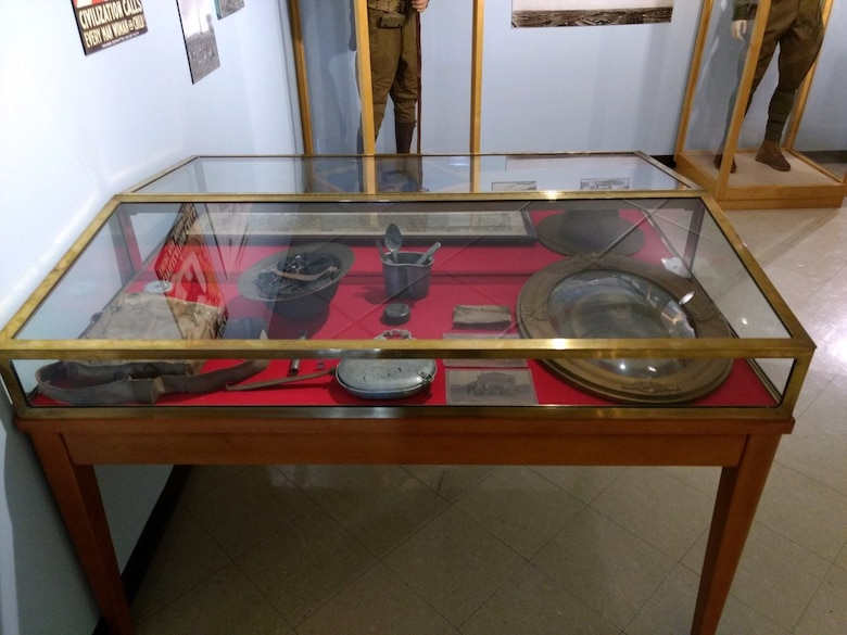 Memorabilia from Arthur Donnelly's Army service at Camp Dix in 1918 is on display at the Fort Dix Military Heritage Hall museum at Joint Base McGuire-Dix-Lakehurst, N.J.