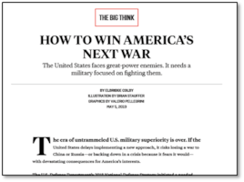 Bridge Colby: How to Win America's Next War
