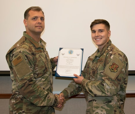 Schweizer Promoted to Staff Sergeant