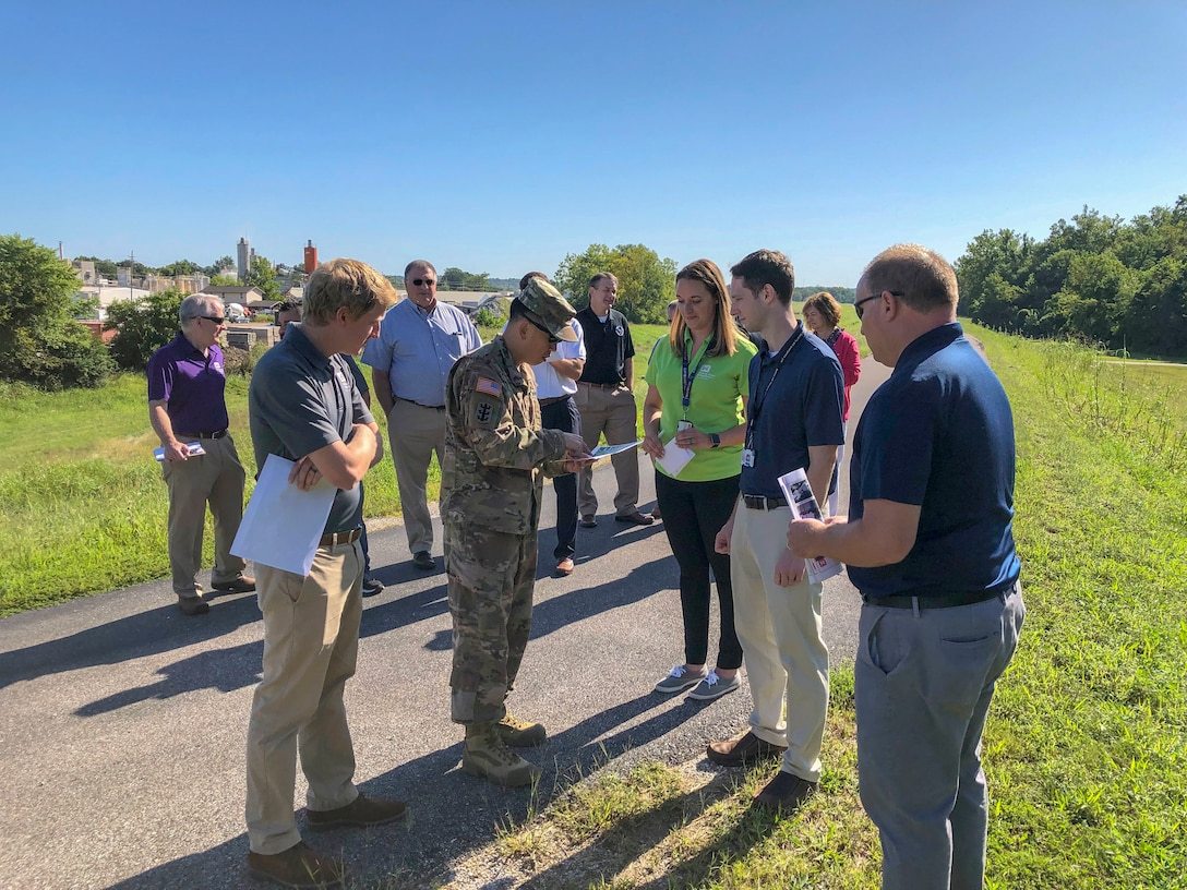 Mississippi Valley Division Commander Maj. Gen. Mark Toy is visiting some of the ongoing projects and meeting with partners in the St. Louis District. During his visit, MG Toy will tour the Valley Park Levee, the St. Louis Floodwall, Metro East Levee system, and the Melvin Price Locks and Dam. #BuildingStrong and #TakingCareofPeople