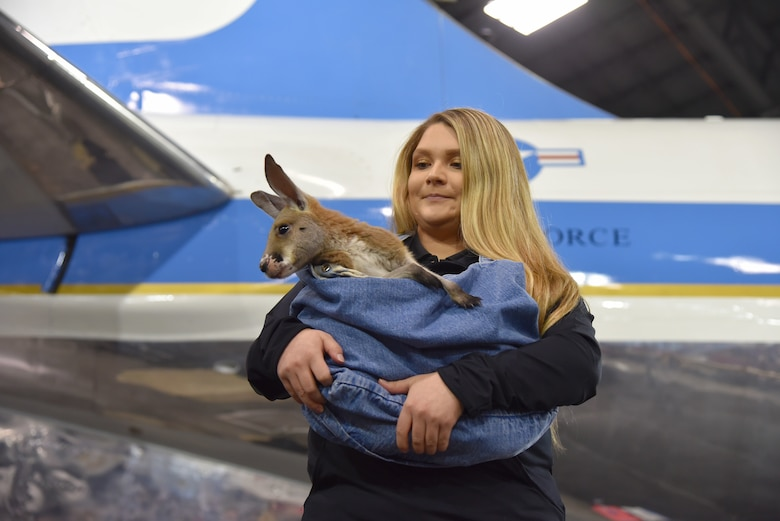 DAYTON, Ohio -- The Columbus Zoo participating in the activities on Jan 13, 2019 at the National Museum of the U.S. Air Force as part of the Science, Discovery and Family Fun Event. (U.S. Air Force photo by Ken LaRock)