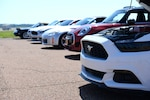 Autocross cars line up before a race, Aug. 17, 2019, on Columbus Air Force Base, Miss. The Mississippi Region of the Sport Cars Club of America holds the event on base once a quarter. (U.S. Air Force photo by Airman 1st Class Jake Jacobsen)