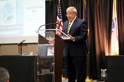 Naval Surface Warfare Center, Crane Division (NSWC Crane) hosted nearly 300 military and civilian experts for the 2019 Triad Symposium on August 23 at WestGate Academy in Odon, Indiana. The event features Crane's collaboration with the U.S. Air Force, Missile Defense Agency (MDA), U.S. Strategic Command (USSTRATCOM), Office of the Secretary of Defense (OSD), and universities in Indiana to pursue strategic nuclear modernization and other key conventional strike technological requirements.