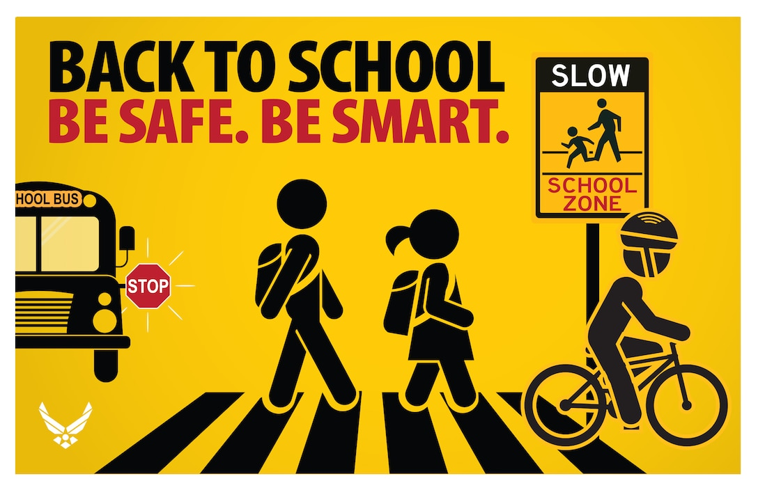 Back-to-school safety graphic