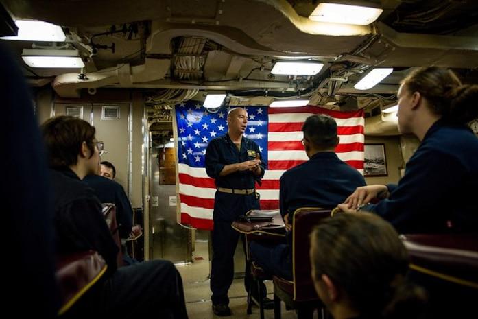 Rear Adm. Houston visits USS Florida